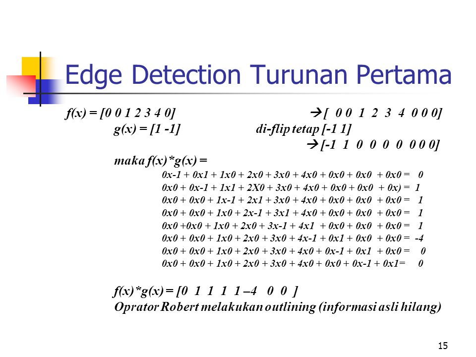 Edge Detection Turunan Pertama