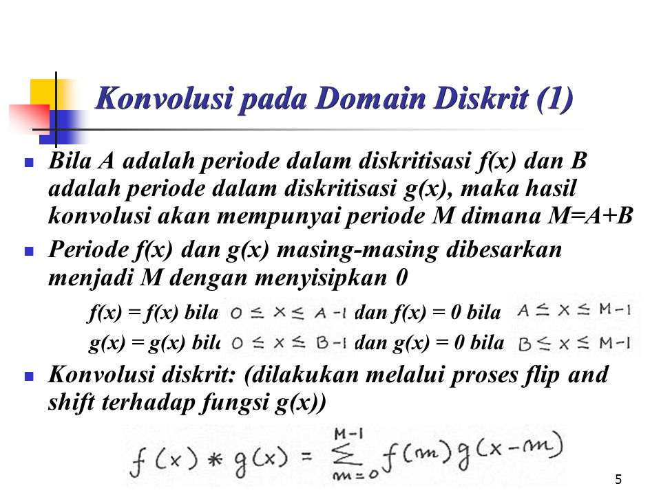 Konvolusi pada Domain Diskrit (1)