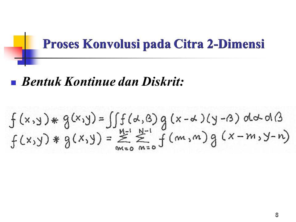 Proses Konvolusi pada Citra 2-Dimensi