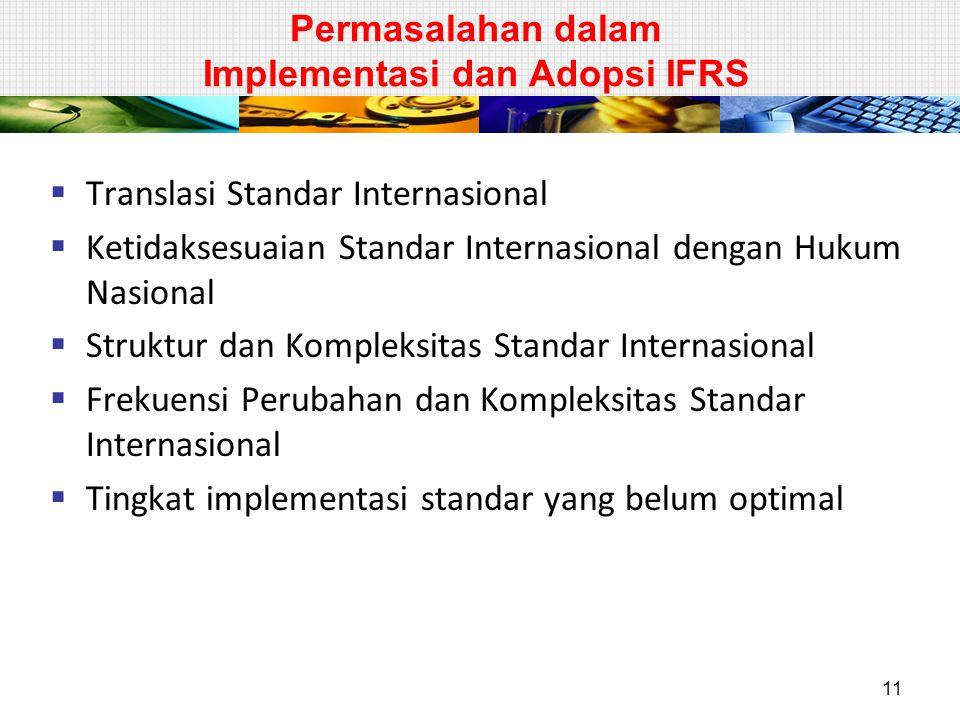 Permasalahan dalam Implementasi dan Adopsi IFRS