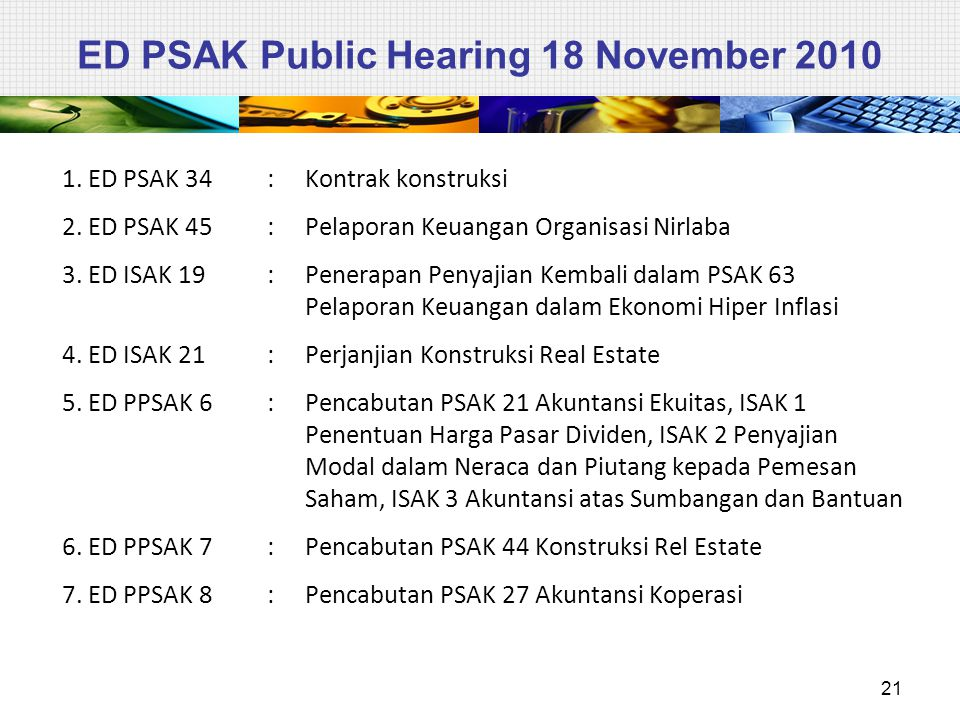 ED PSAK Public Hearing 18 November 2010