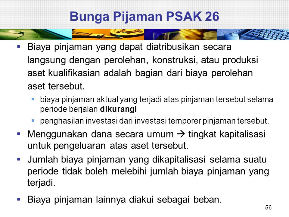 Bunga Pijaman PSAK 26