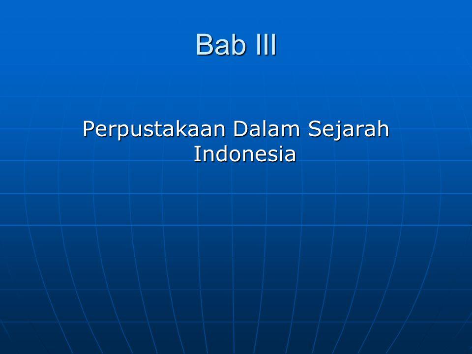 Perpustakaan Dalam Sejarah Indonesia