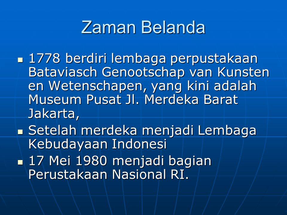 Zaman Belanda
