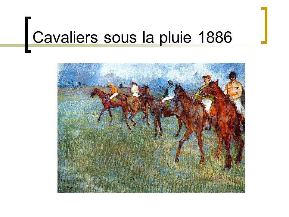 Cavaliers sous la pluie 1886