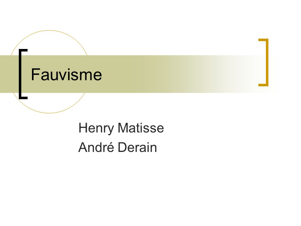Henry Matisse André Derain
