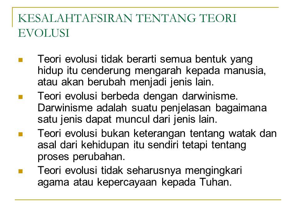 KESALAHTAFSIRAN TENTANG TEORI EVOLUSI