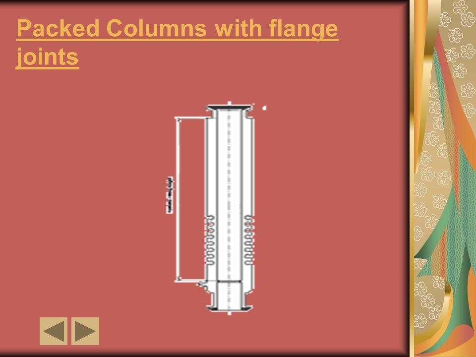 Packed Columns with flange joints