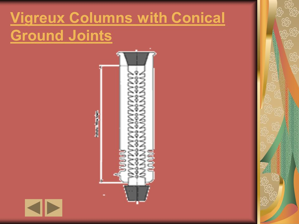 Vigreux Columns with Conical Ground Joints