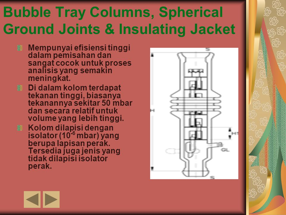 Bubble Tray Columns, Spherical Ground Joints & Insulating Jacket