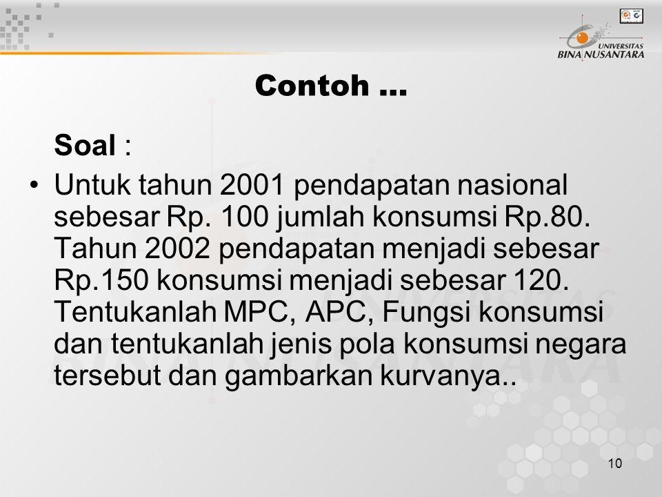 Contoh … Soal :