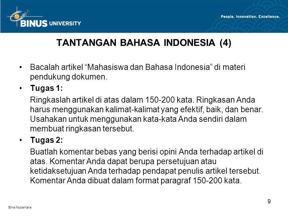TANTANGAN BAHASA INDONESIA (4)