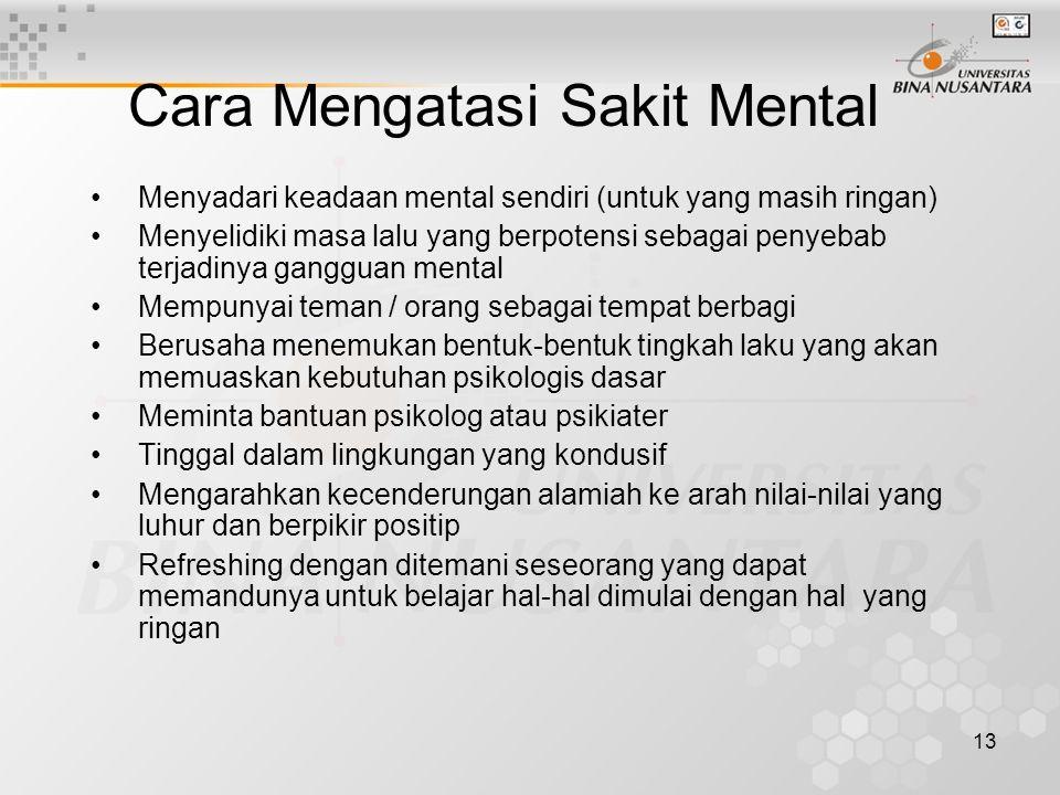 Cara Mengatasi Sakit Mental
