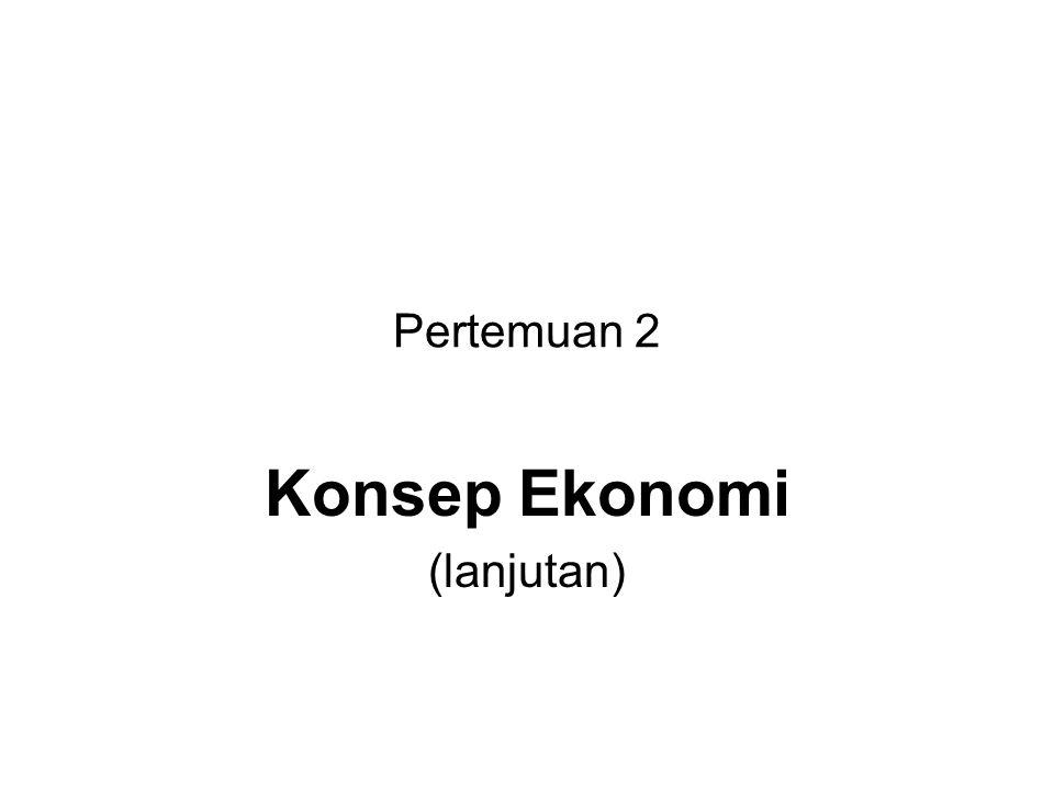 Konsep Ekonomi (lanjutan)