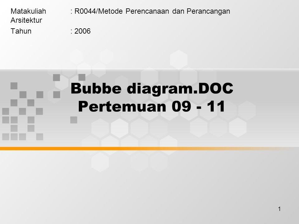Bubbe diagram.DOC Pertemuan 09 - 11
