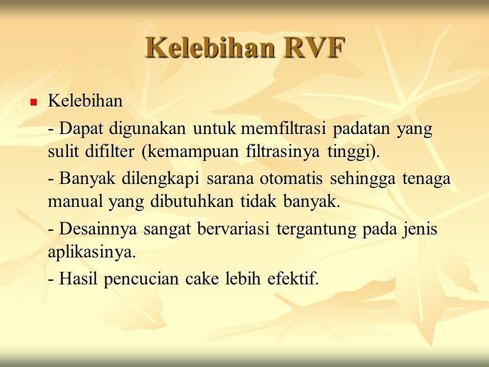 Kelebihan RVF Kelebihan