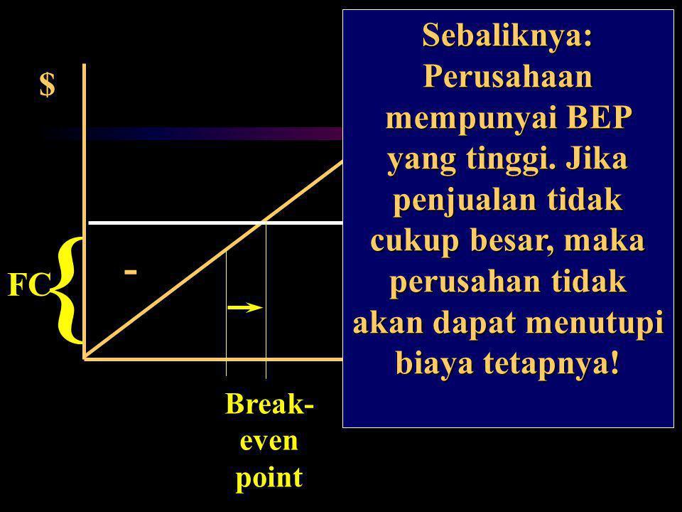 } { EBIT + - Q1 Sebaliknya: