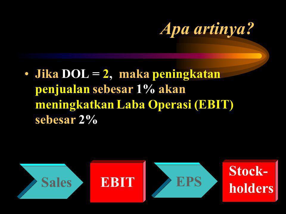Apa artinya Stock- holders EBIT EPS Sales