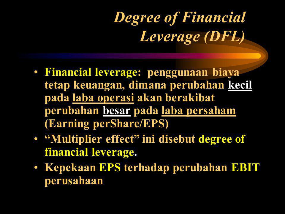 Degree of Financial Leverage (DFL)