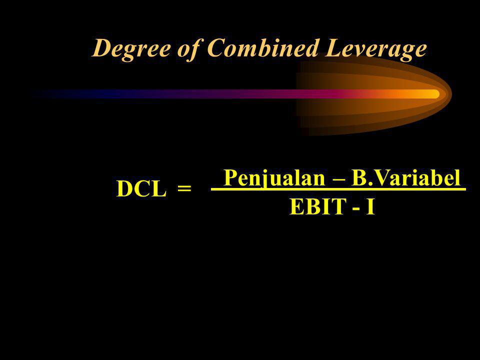 Degree of Combined Leverage