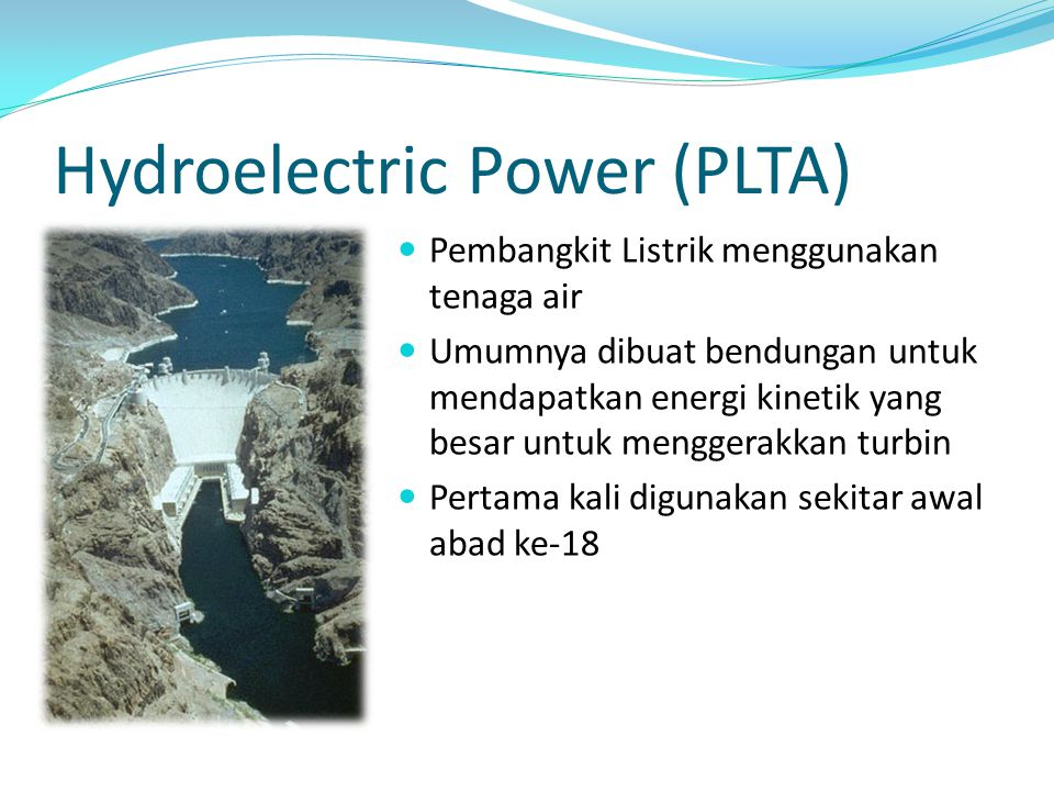 Hydroelectric Power (PLTA)