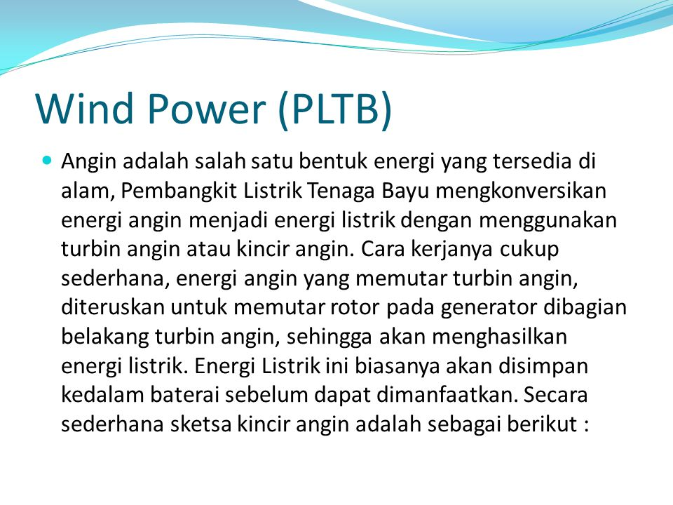 Wind Power (PLTB)