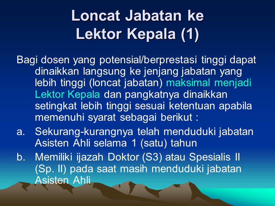 Loncat Jabatan ke Lektor Kepala (1)