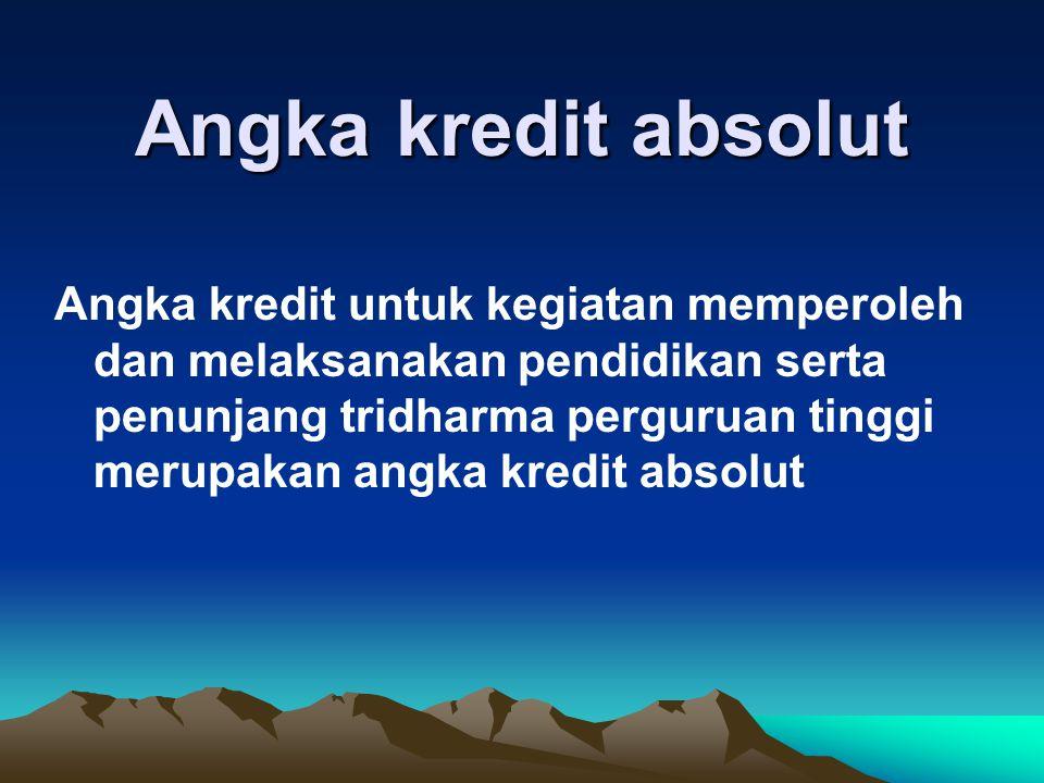 Angka kredit absolut