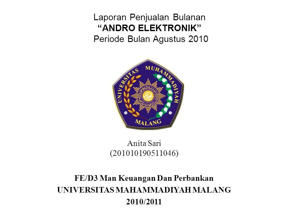 FE/D3 Man Keuangan Dan Perbankan UNIVERSITAS MAHAMMADIYAH MALANG