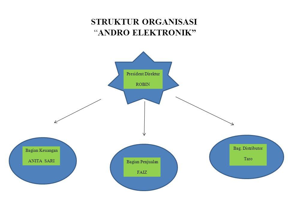 STRUKTUR ORGANISASI ANDRO ELEKTRONIK
