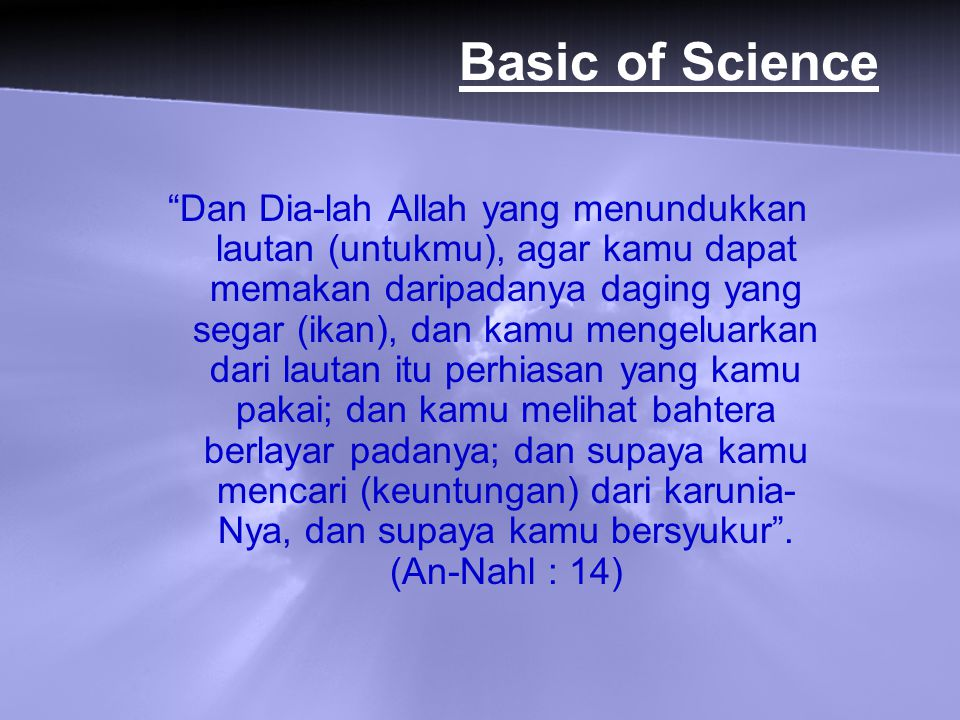 Basic of Science