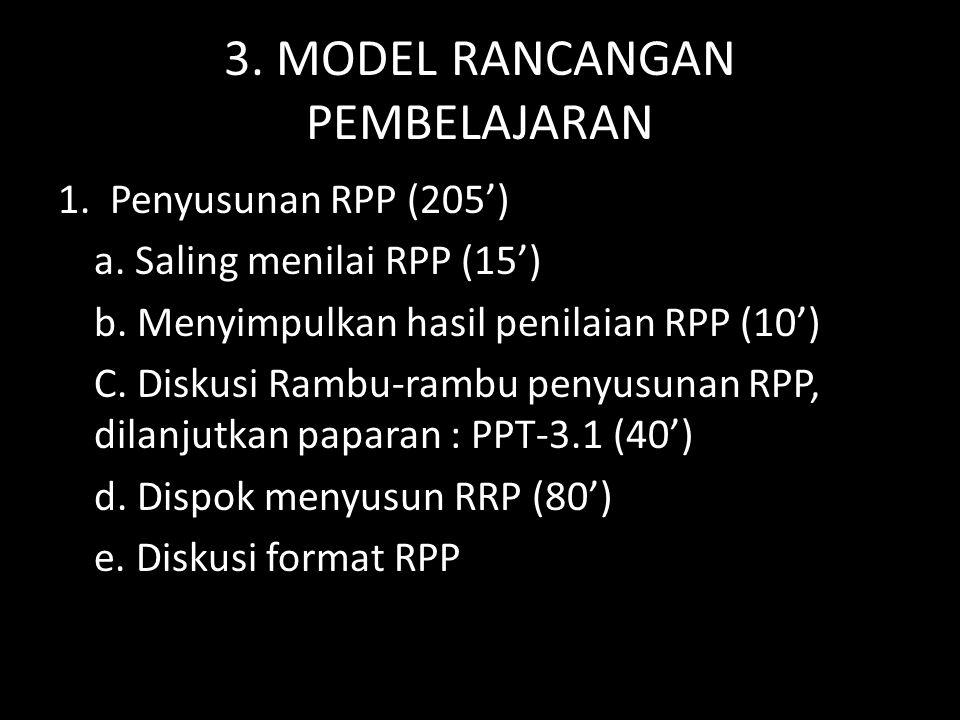 3. MODEL RANCANGAN PEMBELAJARAN