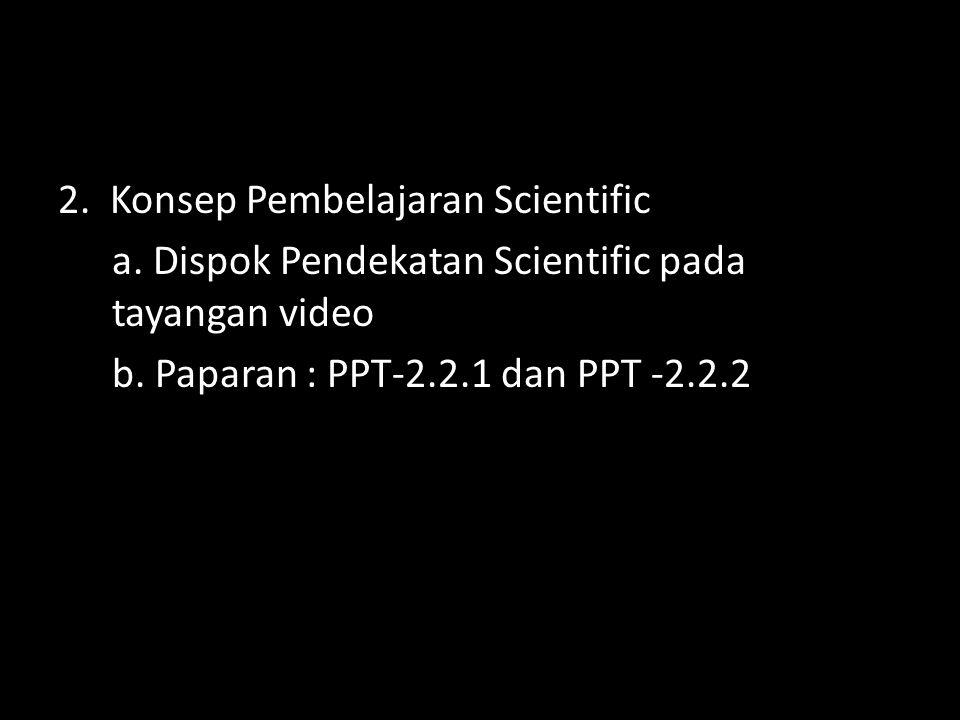 2. Konsep Pembelajaran Scientific a