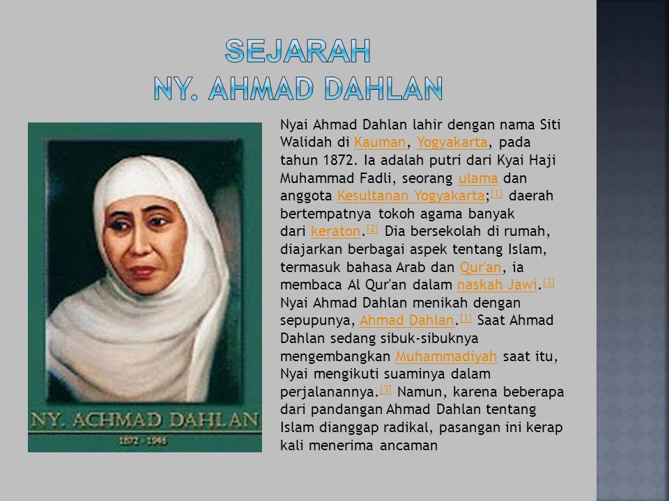 Sejarah Ny. AHMAD DAHLAN
