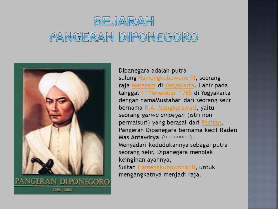 Sejarah pangeran diponegoro