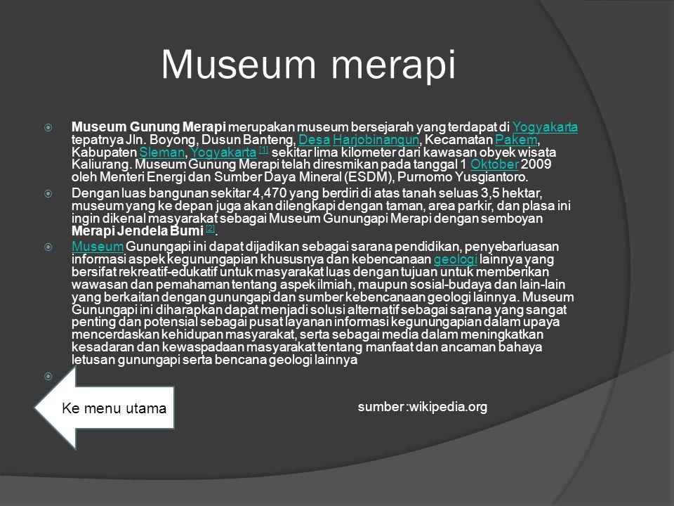 Museum merapi Ke menu utama