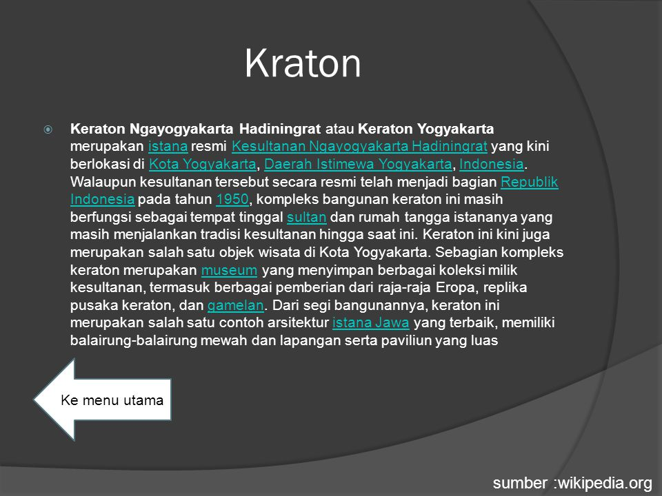 Kraton sumber :wikipedia.org