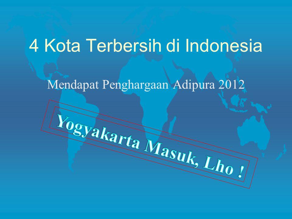 4 Kota Terbersih di Indonesia