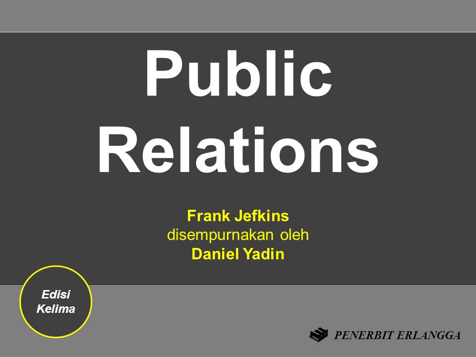 Frank Jefkins disempurnakan oleh Daniel Yadin