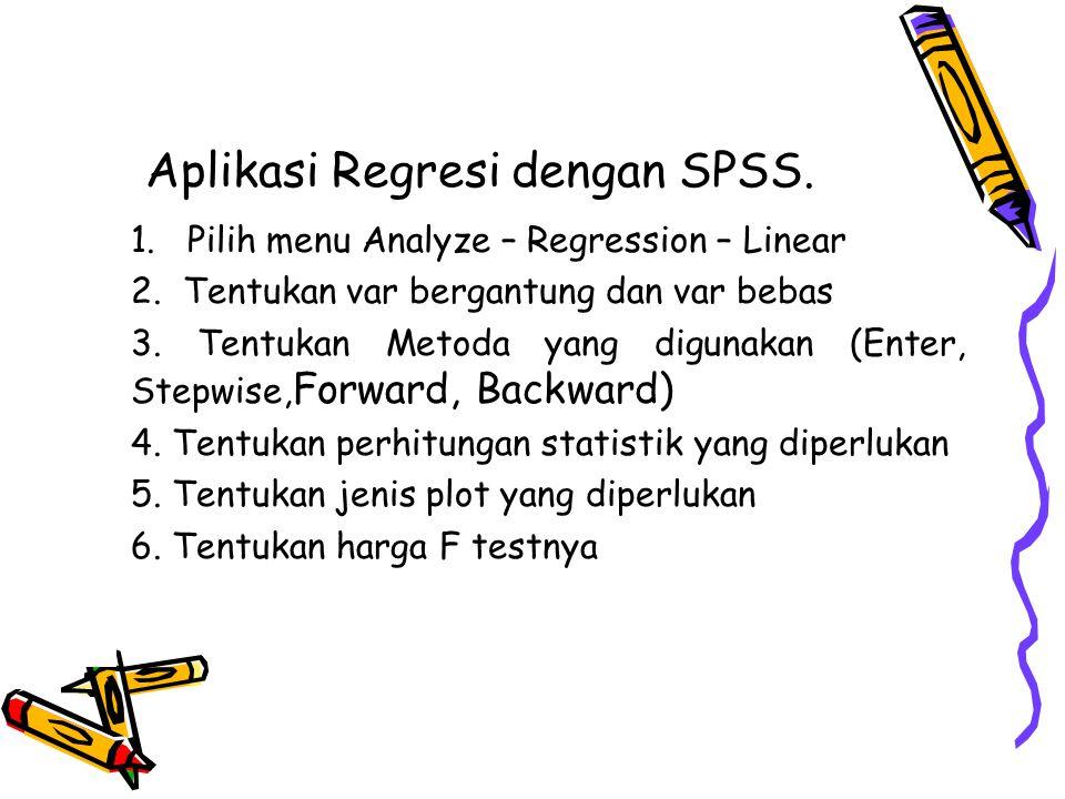 Aplikasi Regresi dengan SPSS.