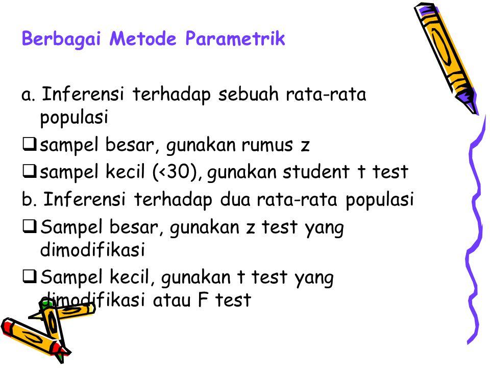 Berbagai Metode Parametrik