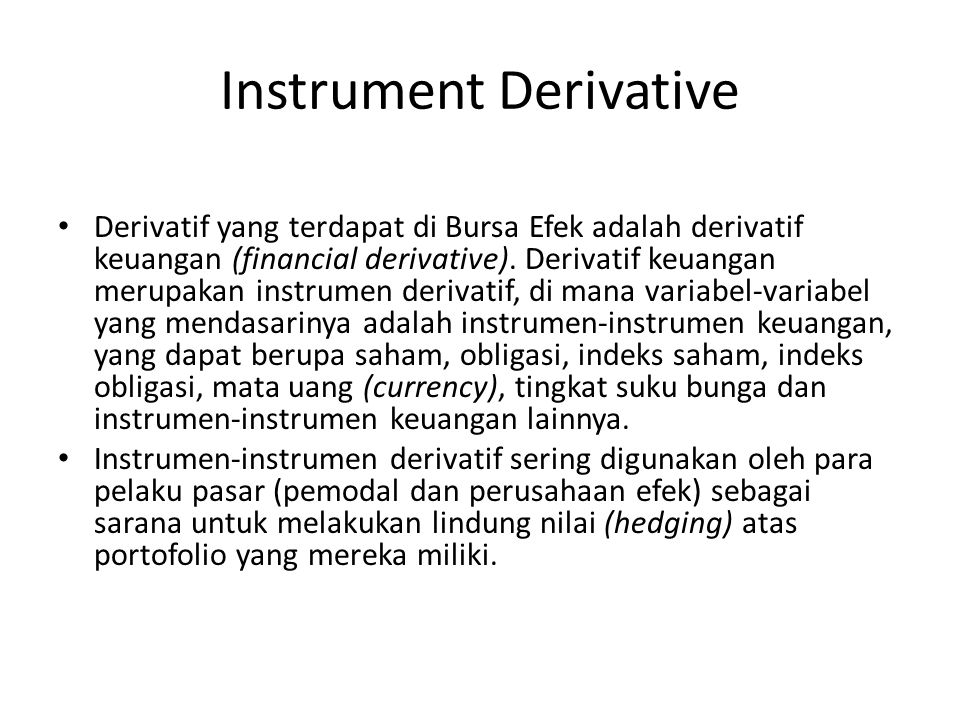 Instrument Derivative