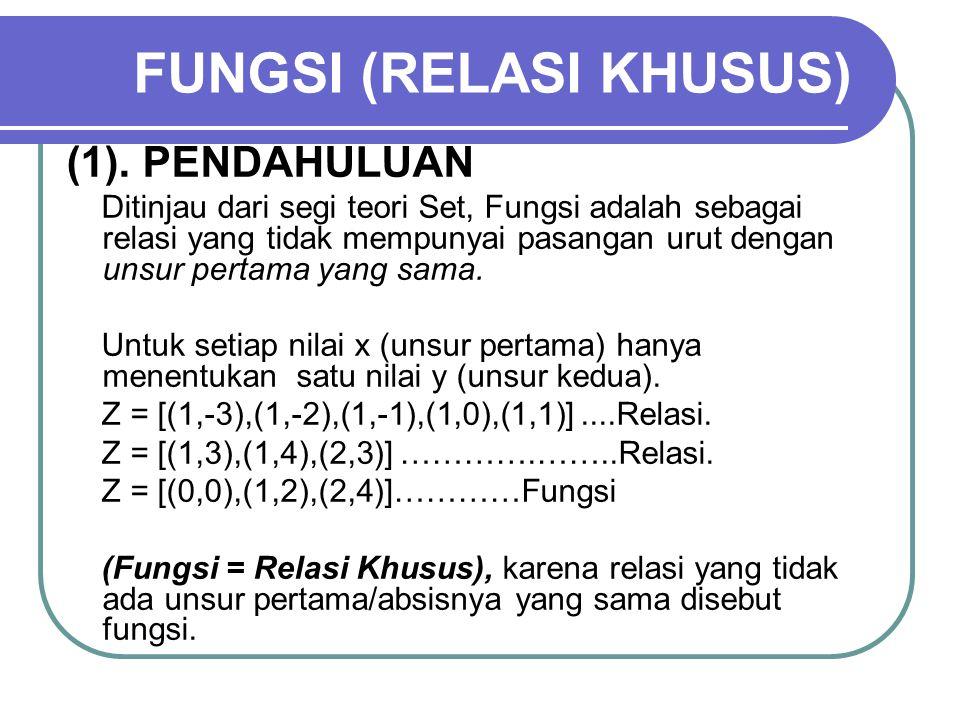 FUNGSI (RELASI KHUSUS)