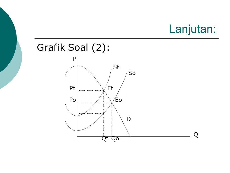 Lanjutan: Grafik Soal (2): P St So Pt Et Po Eo D Q Qt Qo