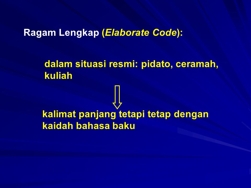 Ragam Lengkap (Elaborate Code):
