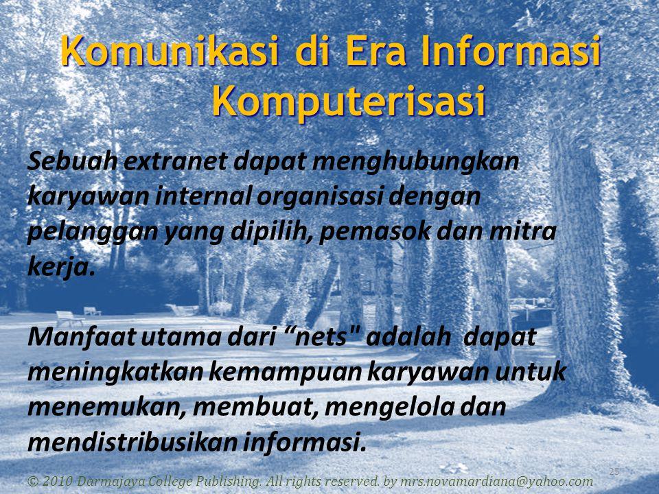 Komunikasi di Era Informasi Komputerisasi