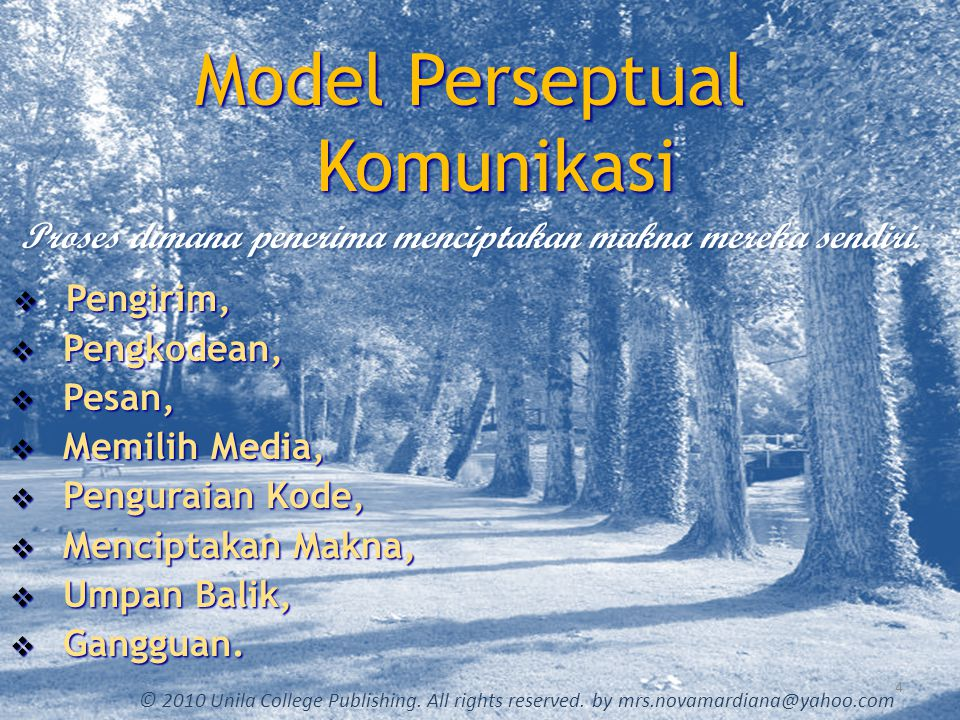 Model Perseptual Komunikasi