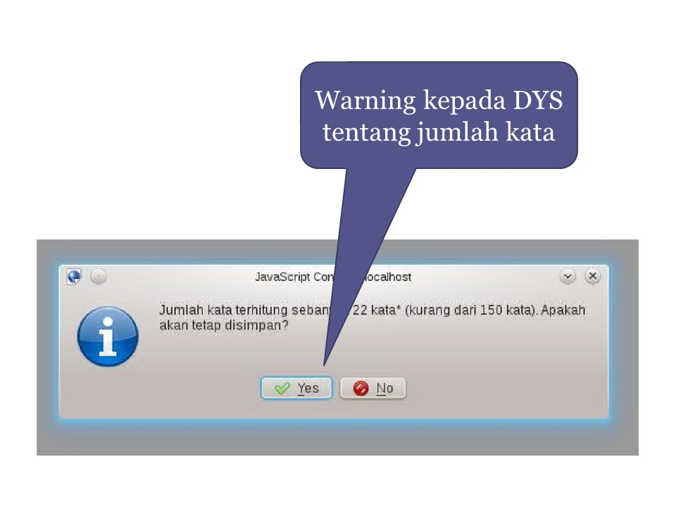Warning kepada DYS tentang jumlah kata