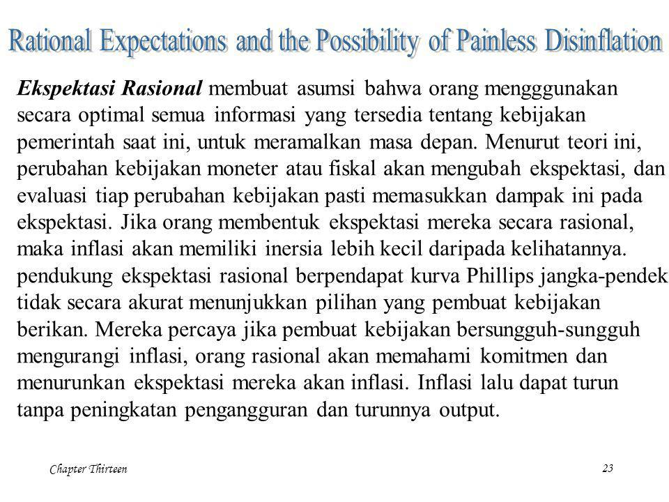 Rational Expectations and the Possibility of Painless Disinflation