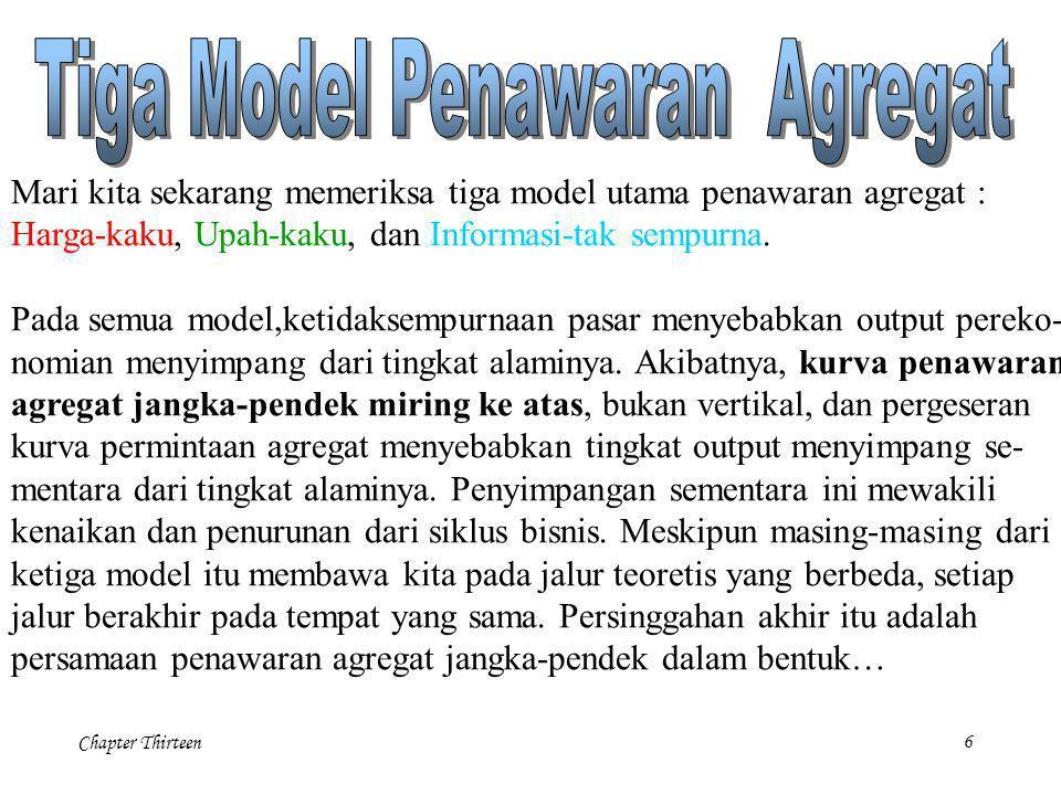 Tiga Model Penawaran Agregat